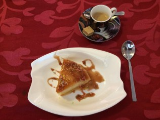 A perfect ending to another terrific meal this one at Café Mundo in Matanza … cream caramel and Cuban coffee. They could have kept the sprinkles, though.