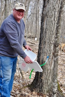 Ron Bowman on the last day of maple syrup collection this spring.