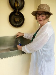 Here I am at the former convent where we stayed for four nights in Matanzas, Cuba, filling my water bottle with filtered water. One of the members of our group from Westminster Presbyterian Church is responsible for helping design and install 44 water systems in churches and schools on the island. The was the day we spend an afternoon at the beach.