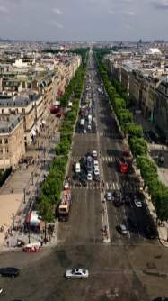 May 29: View from the Arc de Triomphe in Paris. Our party of three wore off lots of shoe leather today. Great, even inspiring, time. Can't wait for what tomorrow will bring.