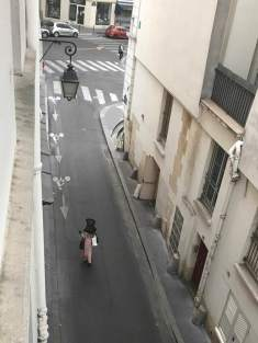 May 30: This is the view from a window of our apartment on Rue Maitre Albert on the Left Bank of the Seine in Paris. It's one of the oldest streets in the city. I shot the iPhone pic at about 9 p.m. Smallish but meets our needs perfectly.