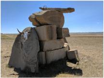 Kim Shade's Ranch entrance sculpture.