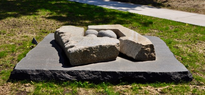 """Shoda Shima Stone Study"" by Isamu Noguchi ."