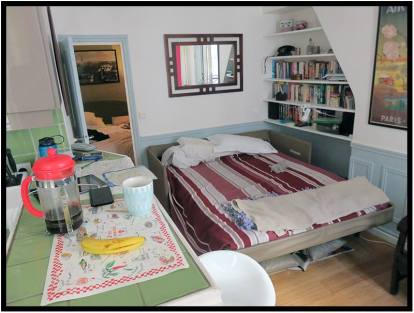 June 15: This apartment, at 21 Rue Maître-Albert on the Left Bank in Paris, is what we rented it for 10 nights recently for $1,550.