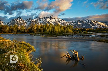 "June 25: ""Morning Light on the Tetons."" Found this spot on the Snake River to capture the sunrise."