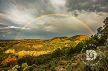 """""""Badlands Rainbow."""" Was fortunate to capture a rainbow after a quick rainstorm passed."""