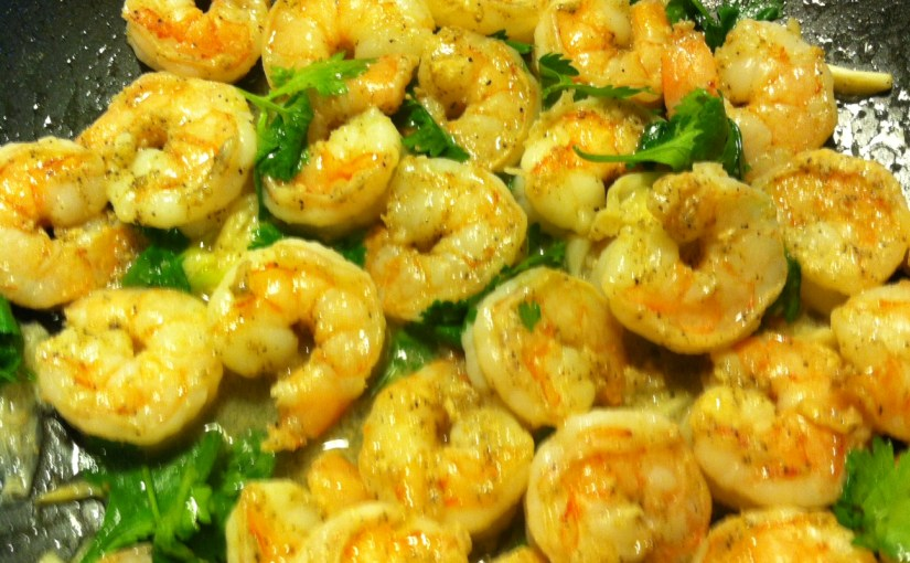 CHEF JEFF: One Byte At A Time — Cilantro Lime Shrimp