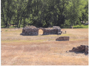 Remnants of the abattoir at Chimney Park.