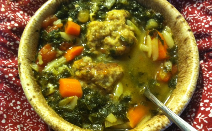 CHEF JEFF: One Byte At A Time — Meatball, Bean And Kale Soup