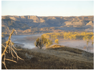 Dawn, Theodore Roosevelt National Park, North Unit, October 2012.