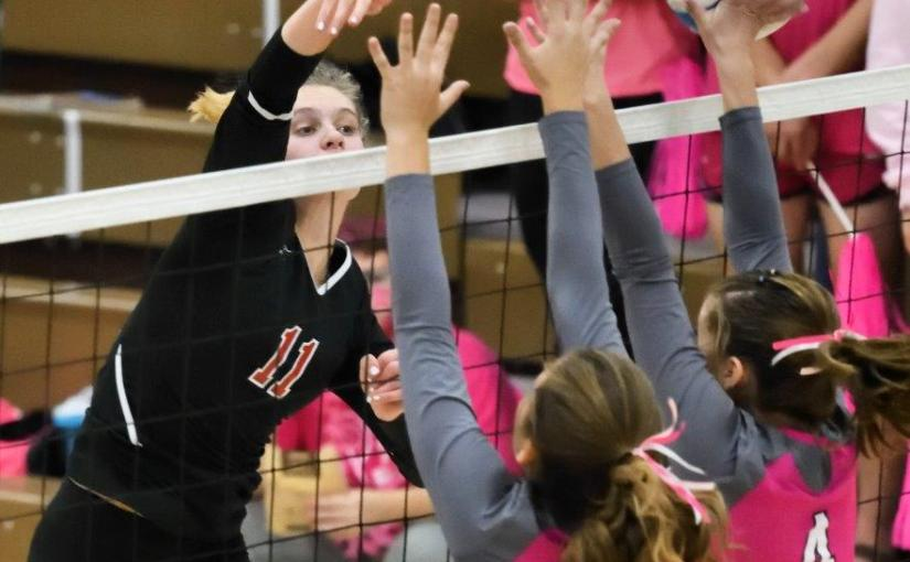 RUSS HONS: Photo Gallery — Grand Forks Central Vs. Grand Forks Red River Volleyball