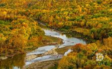 Pembina (Gorgeous) Gorge with the Pembina River in full fall colors.