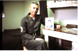 Garland on Okinawa, before his family joined him, 1963.