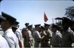 Garland, retirement ceremony, Fort Bliss, Texas, 1970.