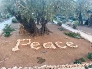 Message when you leave the Garden of Gethsemene.