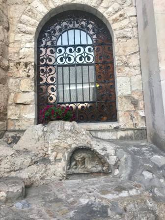 The rocks in the area where Jesus would have prayed in Gethsemene.