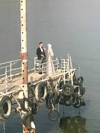 The Sea of Galilee is a popular place for wedding photos.