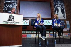 Jocelyne and Monique Lamoureux Olympic Gold medal welcome home party at Ralph Engelstad Arena.