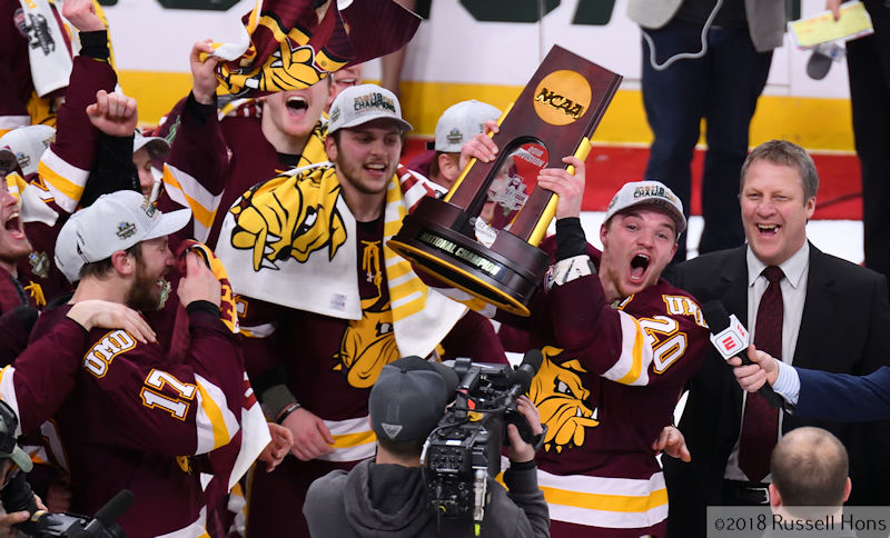 RUSS HONS: Photo Gallery — NCAA Frozen Four: University Of Minnesota-Duluth Vs. University Of Notre Dame