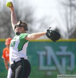 May 4, 2018; North Dakota Softball took on Idaho State in their last home series of the year at Apollo Park in Grand Forks, North Dakota. They split the double header. Russell Hons