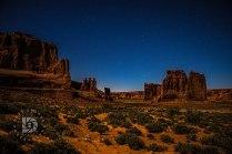 Moonscape image of Park Avenue around 1 a.m.