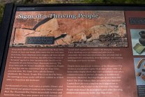 Describing the Petroglyphs left on the rock faces.
