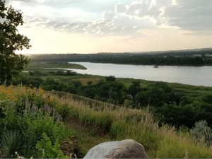 Missouri River at Bismarck.
