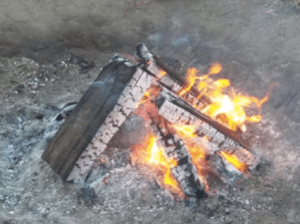 Sacred Fire that burned continuously at Oceti Sakowin.