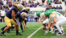 September 08, 2018: An NCAA football game between the Washington Huskies and the North Dakota Fighting Hawks at Husky Stadium in Seattle, Washington. Washington defeated North Dakota 45 -3. Manditory Credit: Russell Hons