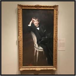 A portrait of the famous American artist and expatriate James Whistler (1834-1903), which hangs in a special exhibit in the Art Institute.