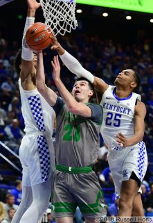 November 14, 2018 NCAA men's college basketball game between the University of North Dakota Fighting Hawks and Kentucky Wildcats at Rupp Arena in Lexington, KY. Photo by Russell Hons