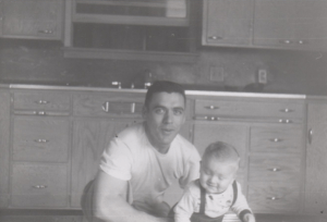 With Dad in 1958.
