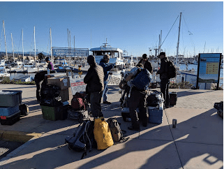 Loading up for the ferry ride to Santa Cruz Island.