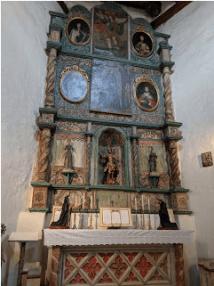 San Miguel Chapel interior, Santa Fe, N.M.