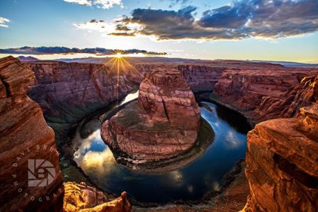 """Horseshoe Bend Sunset"": Iconic overlook south of Page, Ariz."