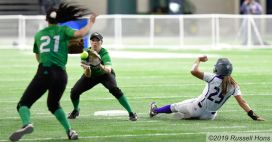 April 20, 2019 UND Softball vs Western Illinois. Photo by Russell Hons