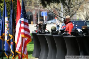 May 14, 2019 The 9th Annual Northern Valley Police Week Memorial Service at the Grand Forks County Courthouse in Grand Forks, ND. Photo by Russell Hons