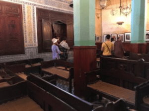 Restored synagogue in the Fez Jewish Quarter.