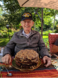 Father's Day on the patio. My Pa loves my from-scratch German Chocolate cake.