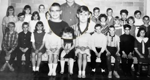 Along with the others, Curt and I were forced to pose for a sixth-grade class photo.