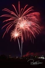 Fireworks over Grand Forks, ND on the 4th of July, 2019. Photo by Russell Hons