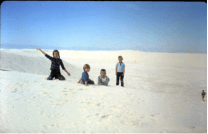 Me, second from left, with my siblings, at White Sands National Monument, 1960s.
