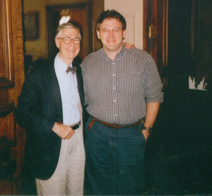 With Fred in the late 1990s.