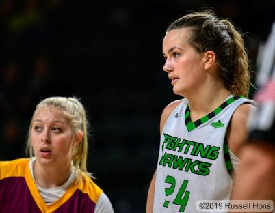 October 24, 2019: An exhibition NCAA basketball game between Concordia College and the University of North Dakota Fighting Hawks at Betty Engelstad Sioux Center in Grand Forks, ND. UND won 98-19. Photo by Russell Hons
