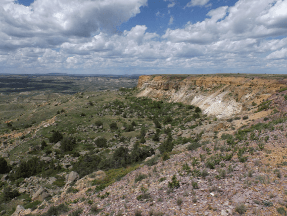 The view looking northwest from the west face of Bullion Butte.
