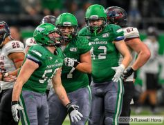 November 23, 2019: a NCAA FCS football game between the Southern Utah Thunderbirds and the University of North Dakota Fighting Hawks at the Alerus Center, Grand Forks, North Dakota. Russell Hons