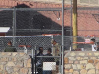 Military presence at the border.