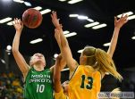 January 19, 2020: a NCAA women's basketball game between the University of North Dakota Fighting Hawks and the North Dakota State Bison at the Scheels Center, Fargo, ND. Photo by Russell Hons