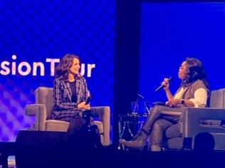 Oprah interviewed Tina Fey for an hour.