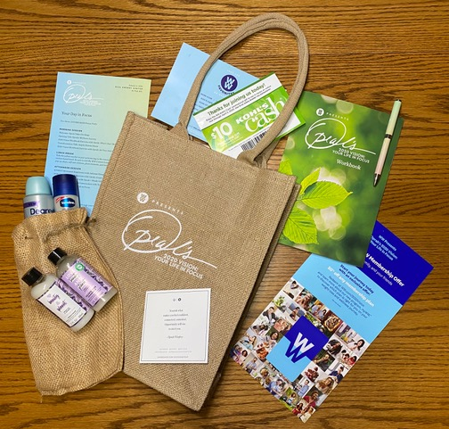 The Oprah Swag Bag and contents.